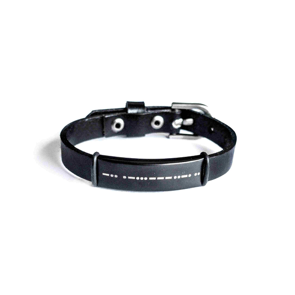 "I LOVE YOU DADDY - MEN MORSE CODE BRACELET - ""TAYLOR"" BRACELET - CA SOULS"
