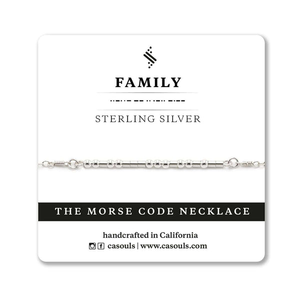 FAMILY MORSE CODE NECKLACE - CA SOULS