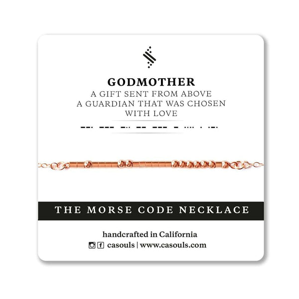 GODMOTHER GIFT - MORSE CODE NECKLACE - CA SOULS