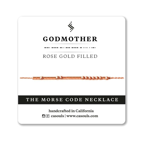 GODMOTHER MORSE CODE NECKLACE - CA SOULS