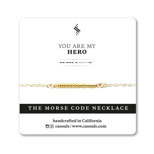 HERO - MORSE CODE NECKLACE - CA SOULS