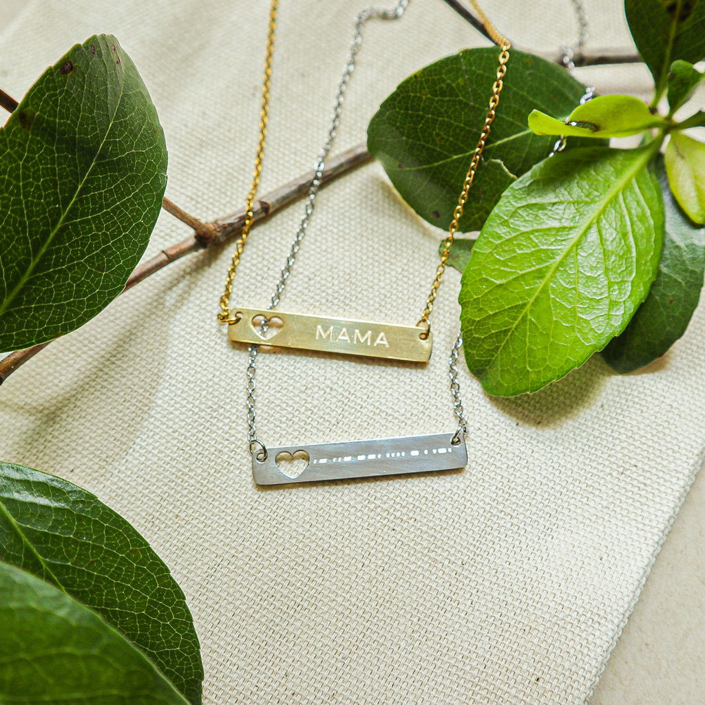 GEMMA - ENGRAVED NECKLACE