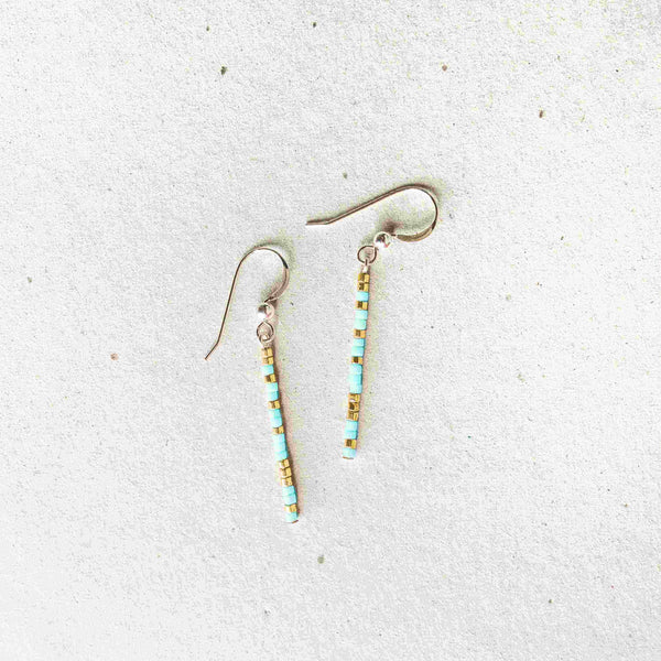 IRIS - MORSE CODE EARRINGS - CA SOULS