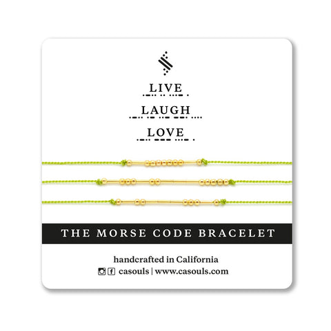 LIVE, LAUGH, LOVE - MORSE CODE BRACELET