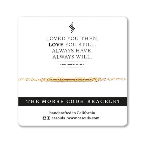 LOVE YOU ALWAYS - MORSE CODE BRACELET