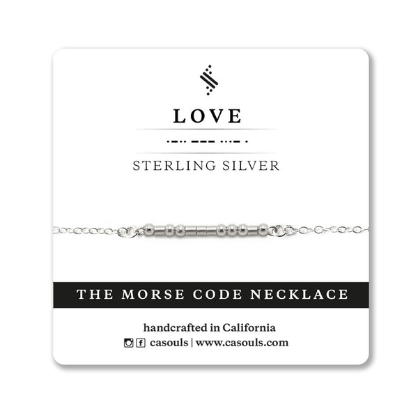 LOVE - MORSE CODE NECKLACE - CA SOULS