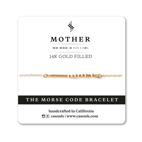 MOTHER MORSE CODE BRACELET - CA SOULS
