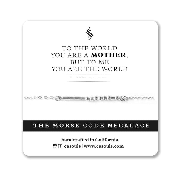 MOTHER & THE WORLD MORSE CODE NECKLACE - CA SOULS