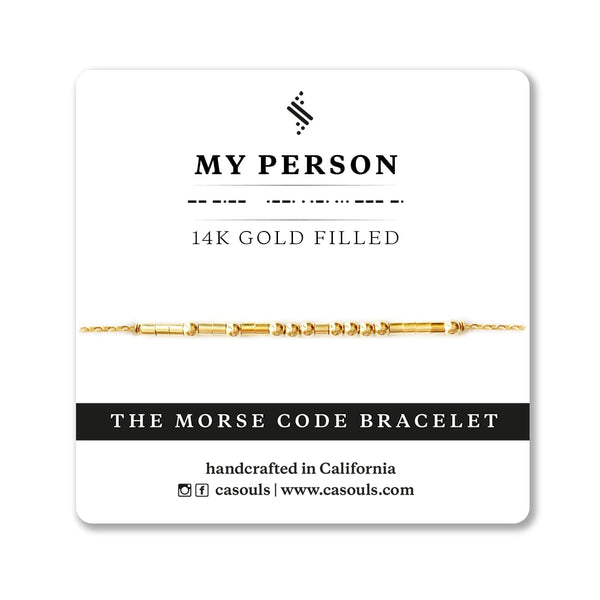 MY PERSON - MORSE CODE BRACELET - CA SOULS