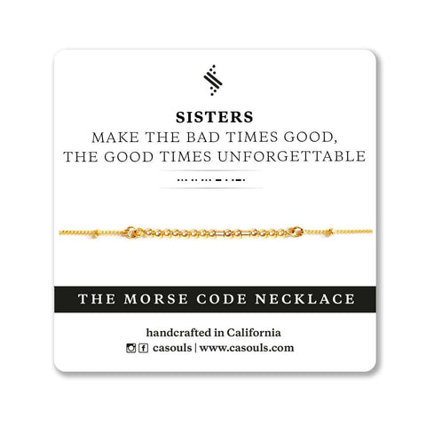 SISTERS - MORSE CODE NECKLACE - CARA DESIGN
