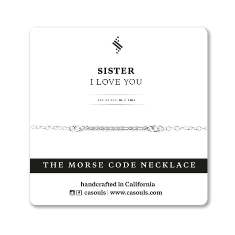 SISTER I LOVE YOU - MORSE CODE NECKLACE