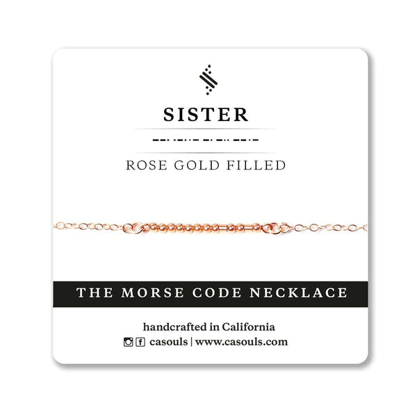 SISTER MORSE CODE NECKLACE - CA SOULS