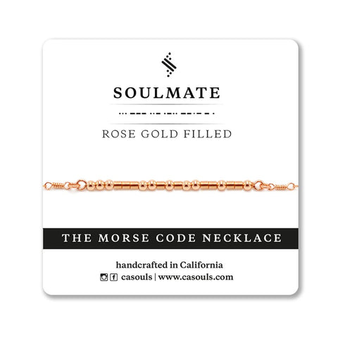 SOULMATE - MORSE CODE NECKLACE