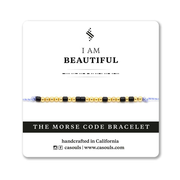 BEAUTIFUL - MORSE CODE BRACELET - CA SOULS
