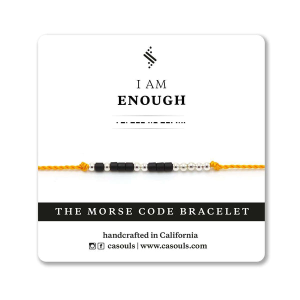 ENOUGH - MORSE CODE BRACELET - CA SOULS