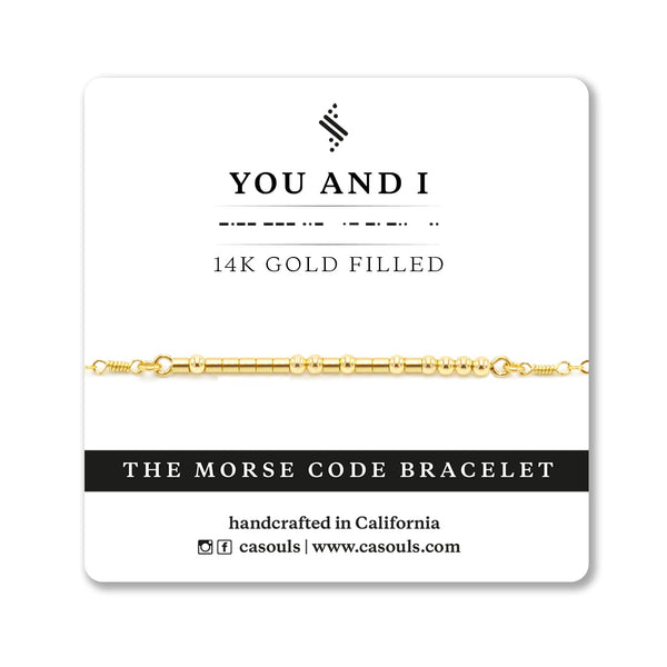YOU AND I - MORSE CODE BRACELET - CA SOULS