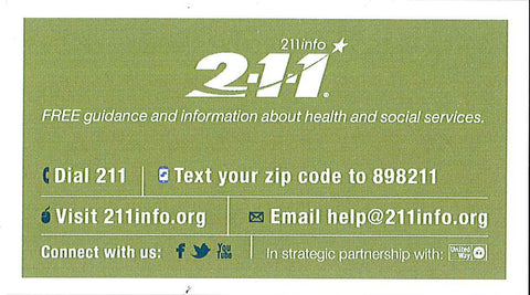 211 referral card