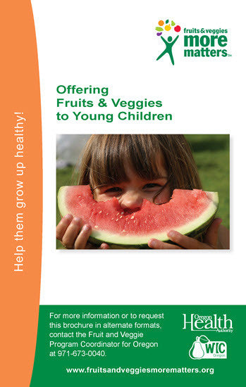Offering fruits and veggies to young children