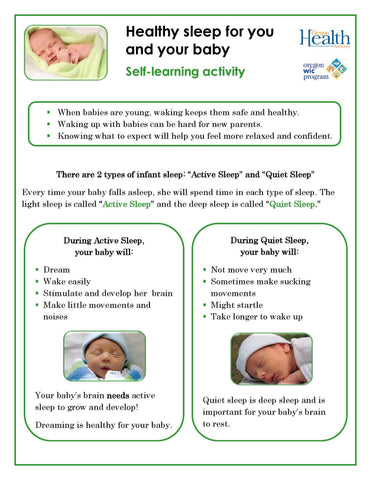 Healthy sleep for you and your baby - self-paced lesson - DOWNLOAD ONLY