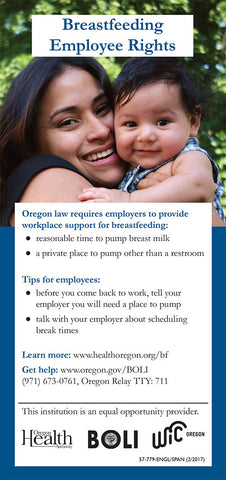 Breastfeeding Employee Rights Flyer