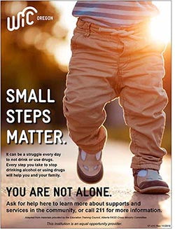 'Small Steps Matter' Substance Abuse Awareness Poster