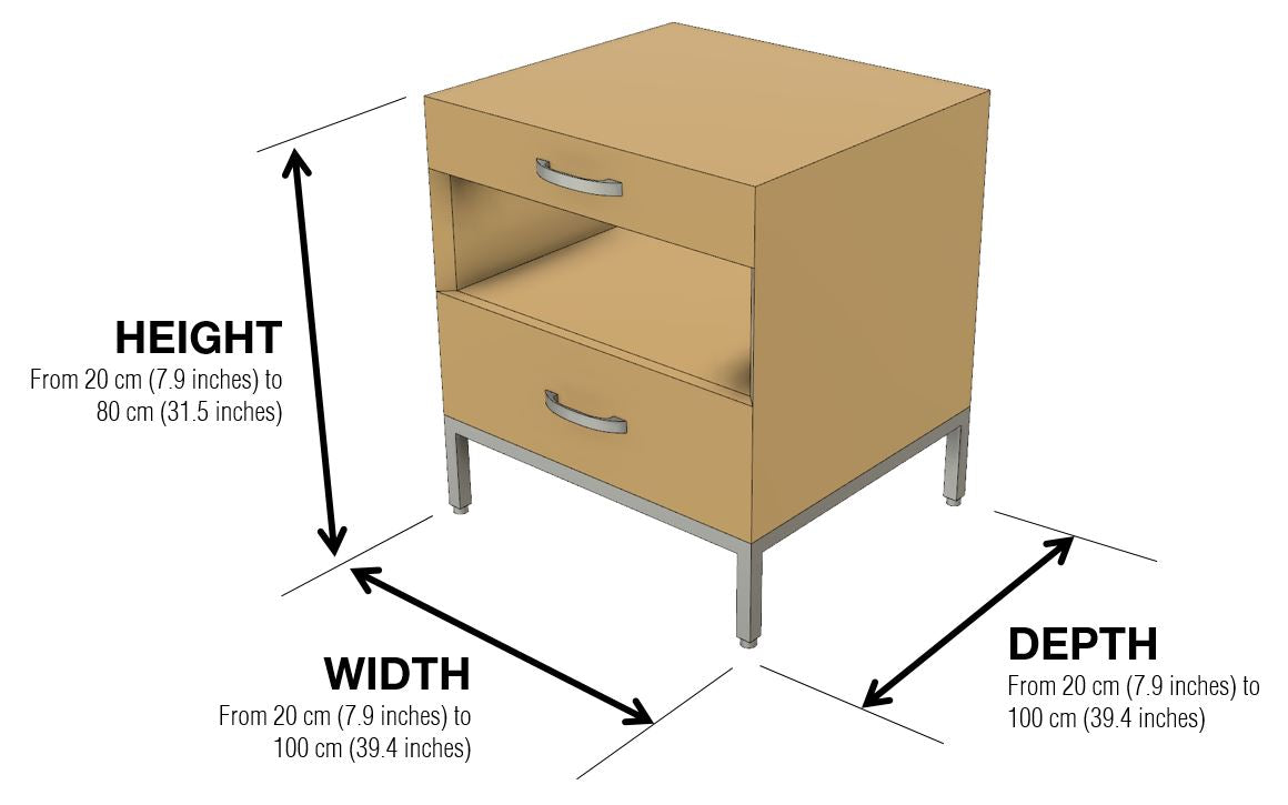Affectionately Side Table Dimensions