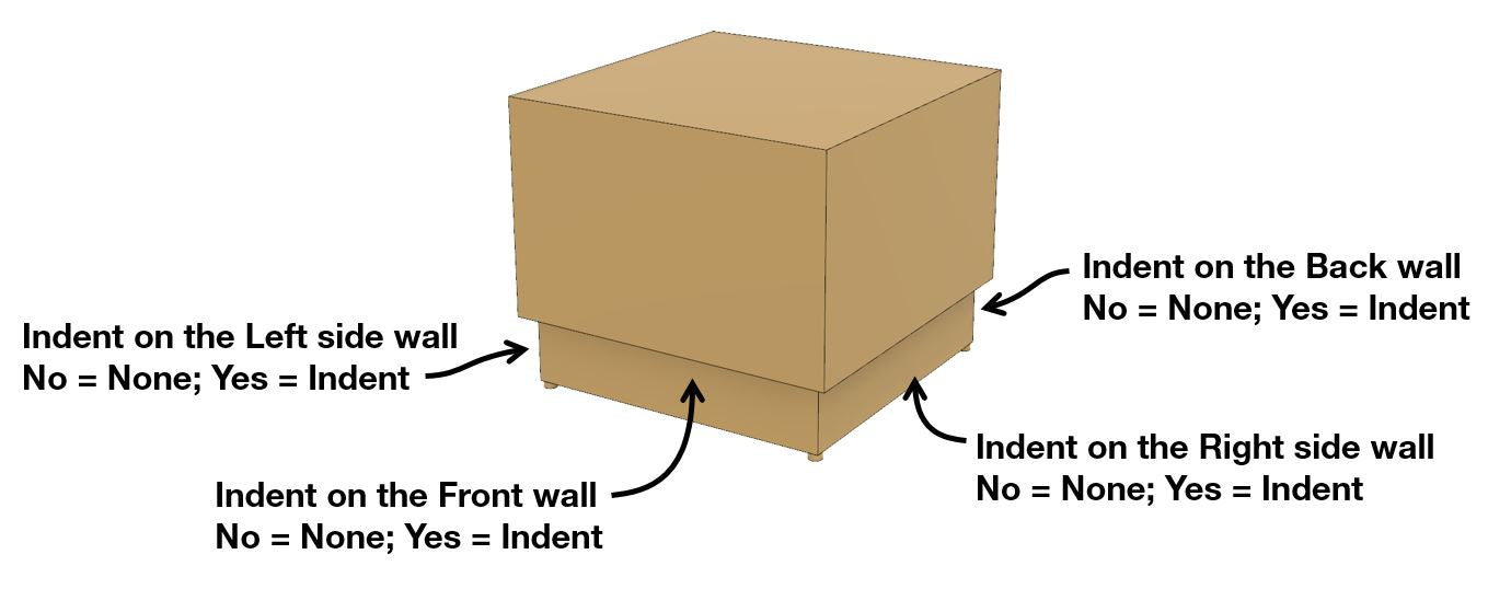 Basically Side Table Indent Options