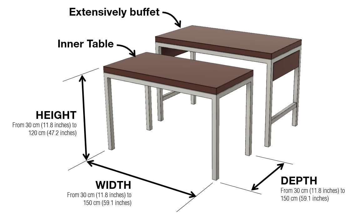 Extensivly Buffet Dimensions and Configuration Options