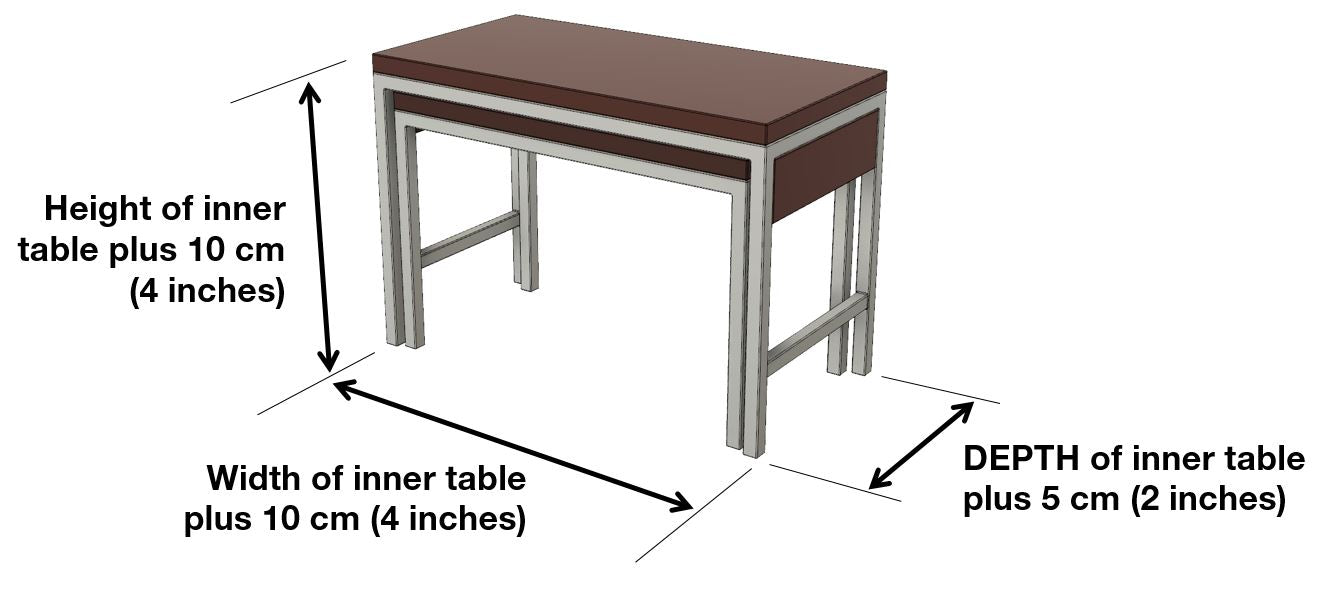 Extensively buffet dimensions