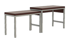 Extensively buffet with smaller table at its side by 1x1 Modern, custom-made and made-to-measure