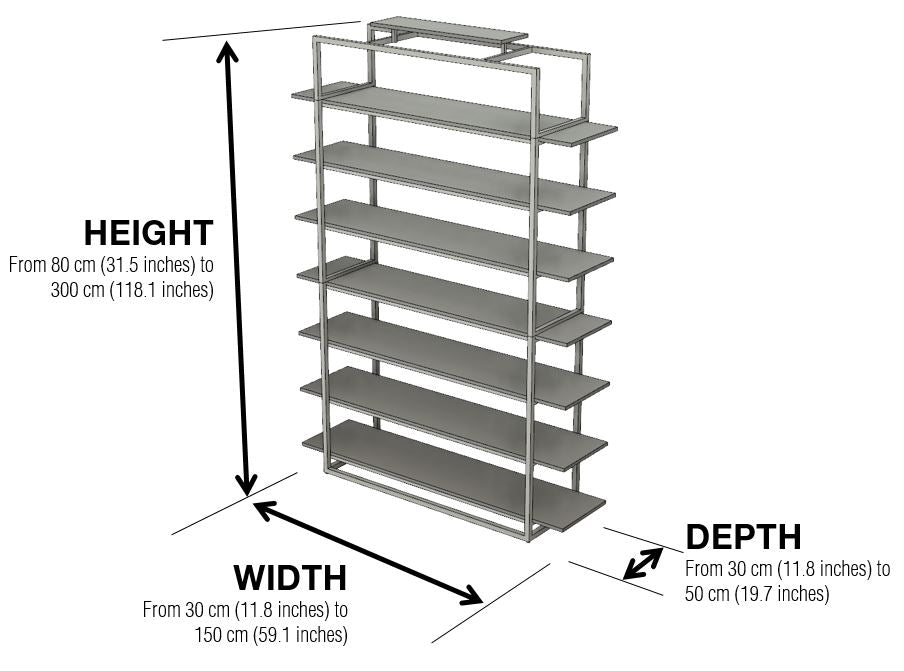 Highly Bookcase Dimensions and Configuration Options