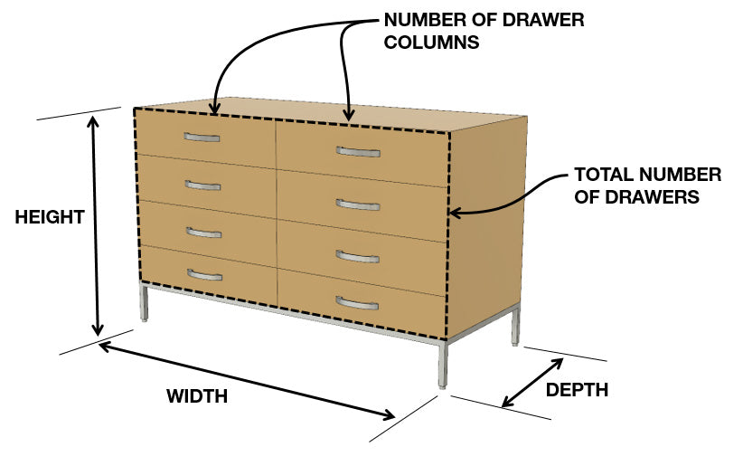 Squarely Dresser Dimensions and Configuration Options