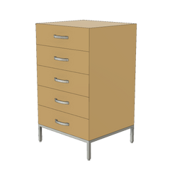 Squarely chest of drawers by 1x1 Modern Custom Furniture, custom-made and made-to-measure