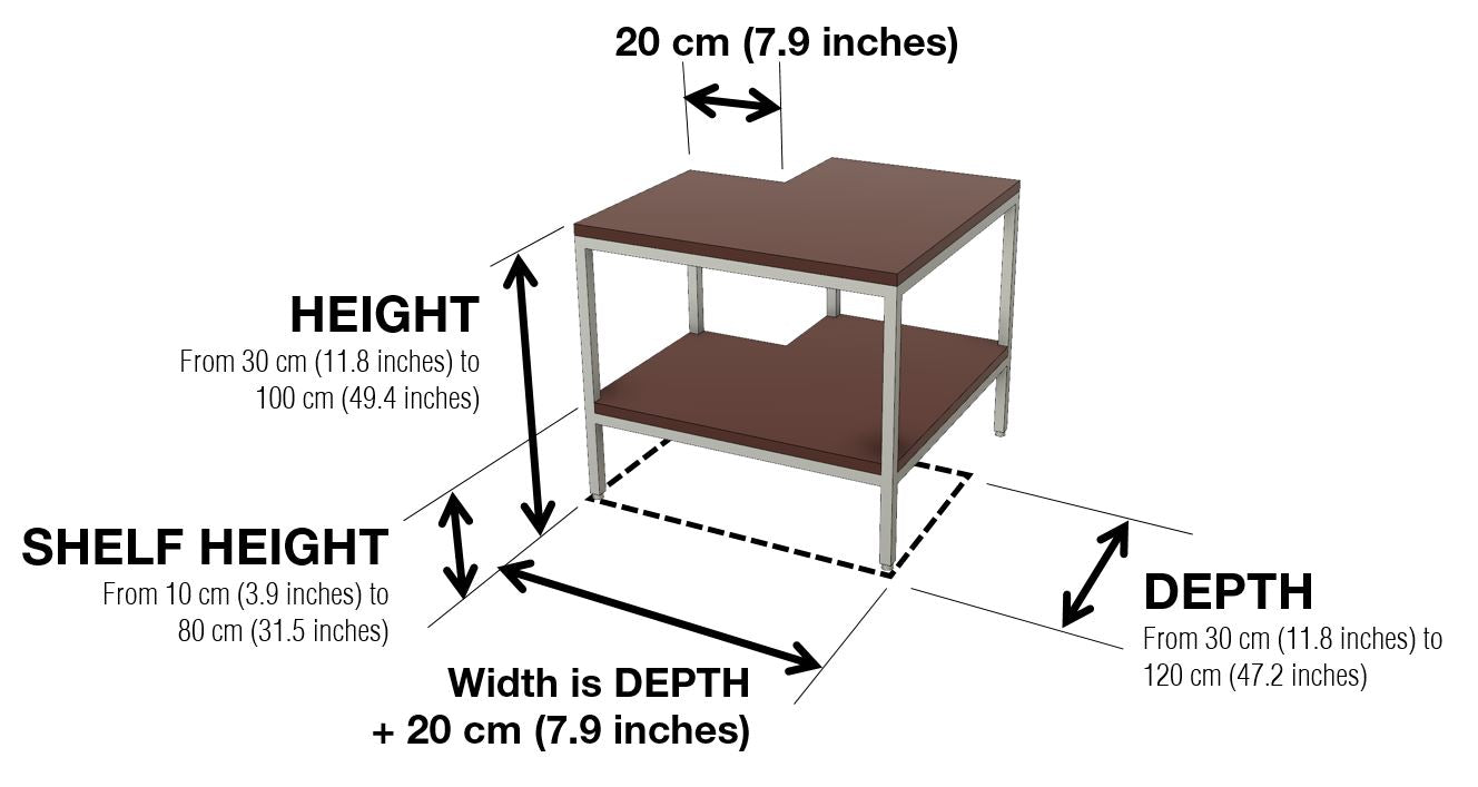 Warmly Sofa Table Corner Unit Dimensions and Configuration Options