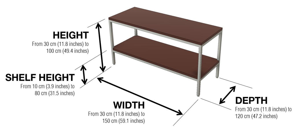 Warmly soft table straight unit dimensions
