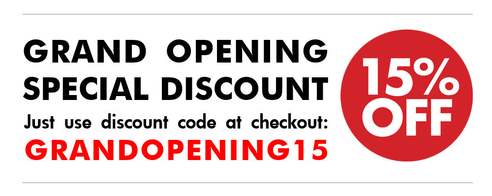 1x1 Modern grand opening 15 percent discount