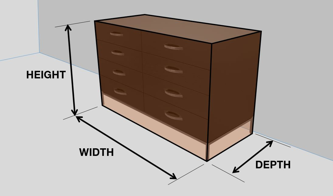 Squarely dresser dimensions by 1x1 Modern Custom Furniture, custom-made and made-to-measure