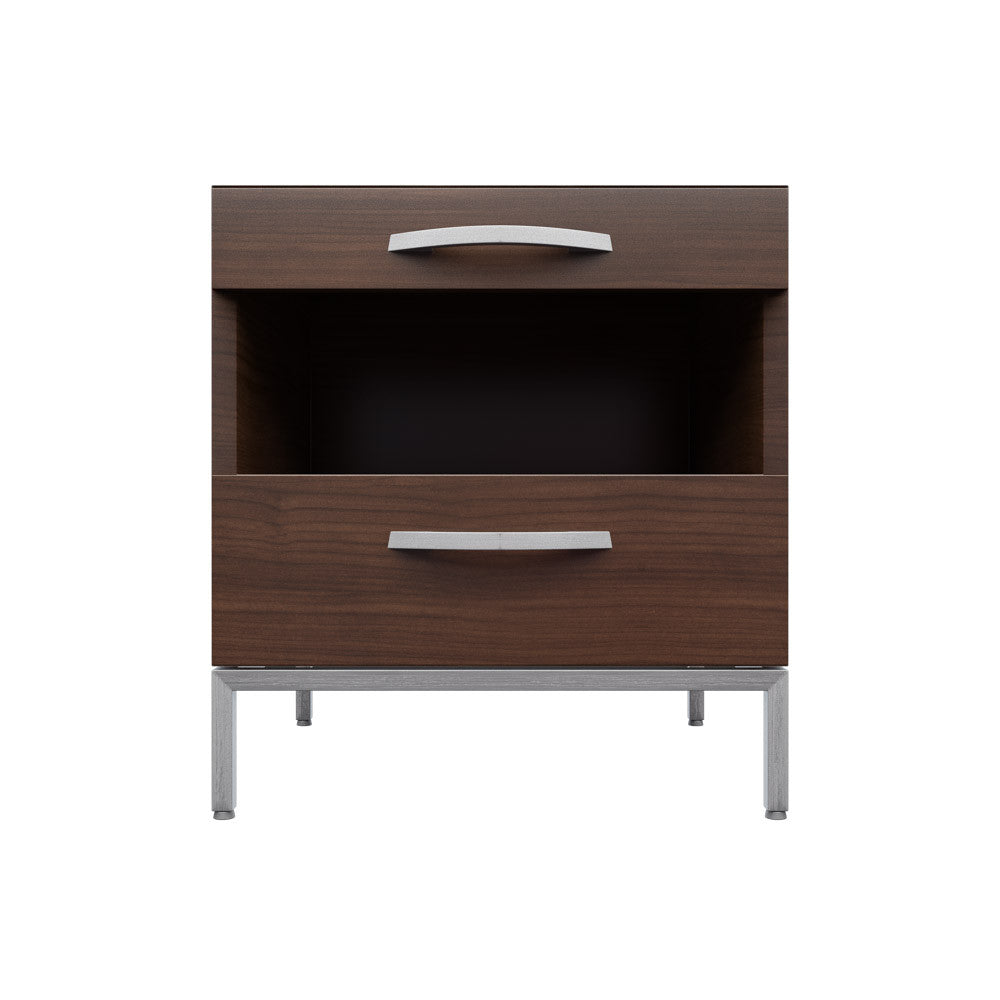 Side table with drawer and shelf -  Front Width View Of Affectionately Side Table By 1x1 Modern Custom Furniture Custom Made