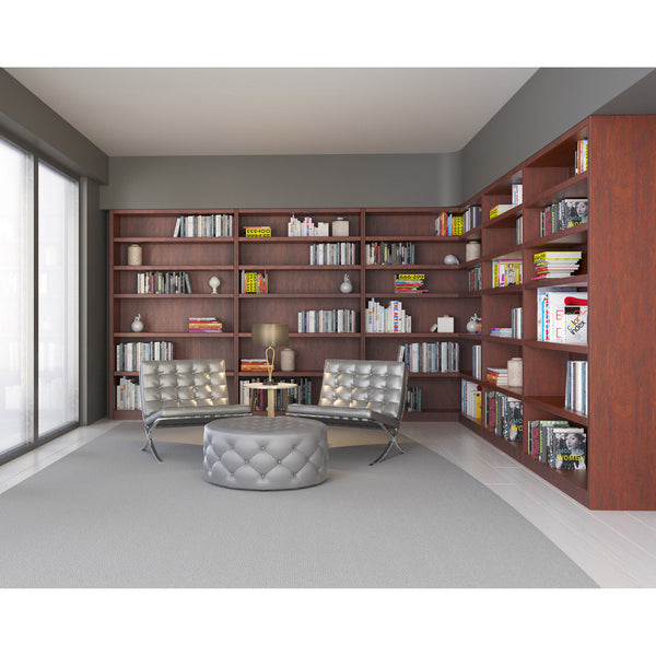 Flexibly bookcase by 1x1 Modern Custom Furniture in a modern library, custom-made and made-to-measure