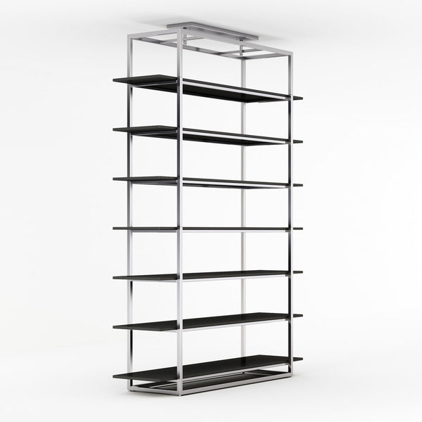 Perspective view of Highly bookcase by 1x1 Modern Custom Furniture, custom-made and made-to-measure