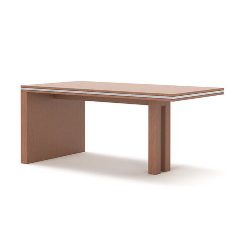 Perspective view of Uniquely table by 1x1 Modern Custom Furniture, custom-made and made-to-measure