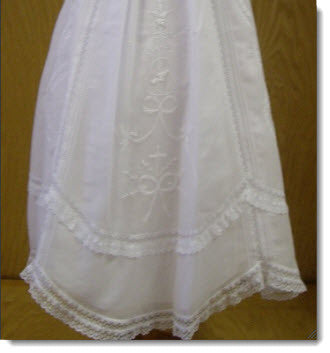 Classic Girls Christening Gown Hire - Little Angels Couture - 4