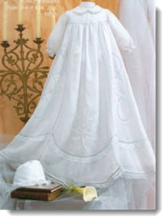 06181 Classic Girls Christening Gown - Little Angels Couture - 1