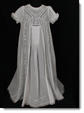 08760 Elegant Christening Gown - Little Angels Couture - 1