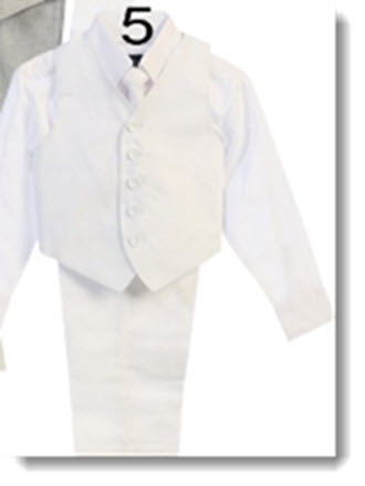 116 Boys Linen Suit - 4 piece set