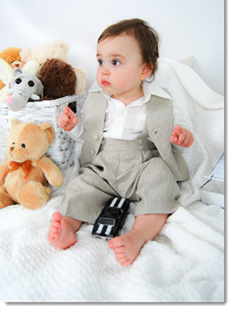 1210: Boys' Four-Piece Christening & Special Occasion Outfit - Little Angels Couture - 2