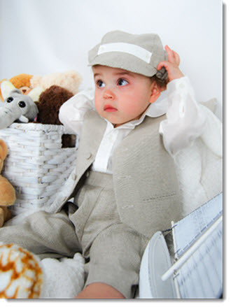 1210: Boys' Four-Piece Christening & Special Occasion Outfit - Little Angels Couture - 3