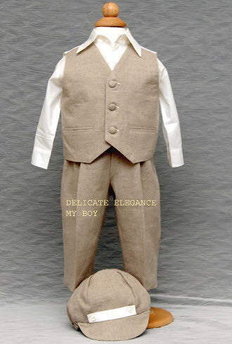 1210: Boys' Four-Piece Christening & Special Occasion Outfit - Little Angels Couture - 5