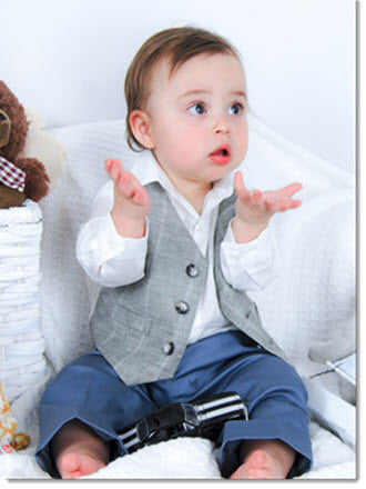 1212: Boys' Four-Piece Christening & Special Occasion Outfit - Little Angels Couture - 3