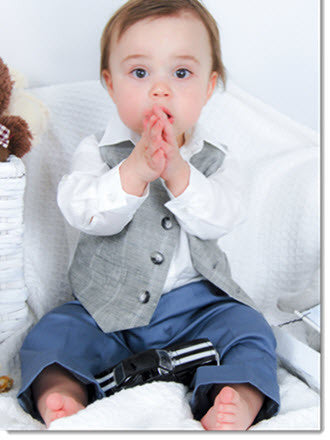 1212: Boys' Four-Piece Christening & Special Occasion Outfit - Little Angels Couture - 2